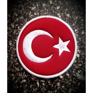 Türk Bayrağı Peç Yuvarlak 7cm